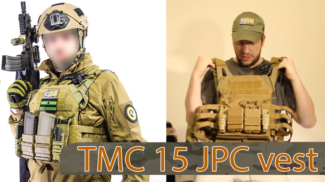 Chaleco TMC JPC veste / Jump Plate Carrier en Coyote Brown