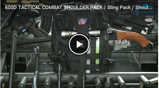 Revue: 600D TABIQUES DE COMBAT TACTILE PACK / Sling Pack