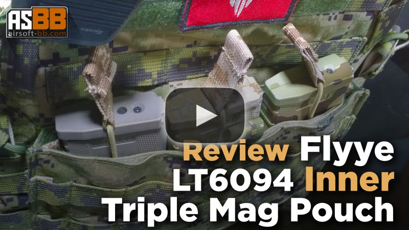 Analyse de Flyye LTB 6094 Inner Triple Mag Pouch airsoftBB