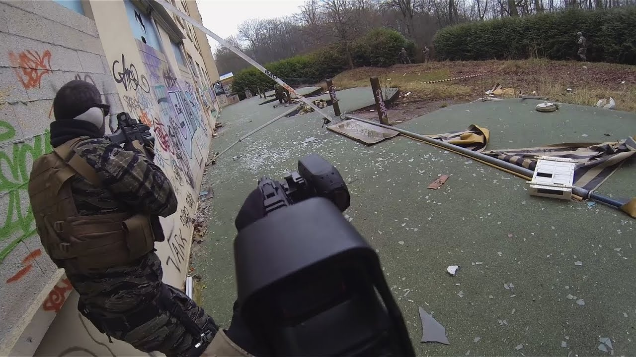 (Airsoft game) 25/01/14 part 1 ; « The Hostel » ; Wild Trigger ; GoPro Hero3 Black Edition