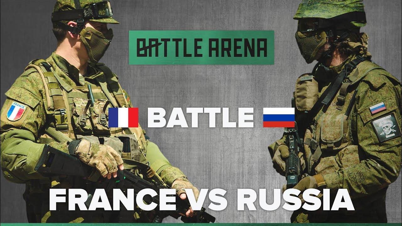 France vs Russie. Airsoft FPS. Jeu d'exposition!    GoPro    BattleArena