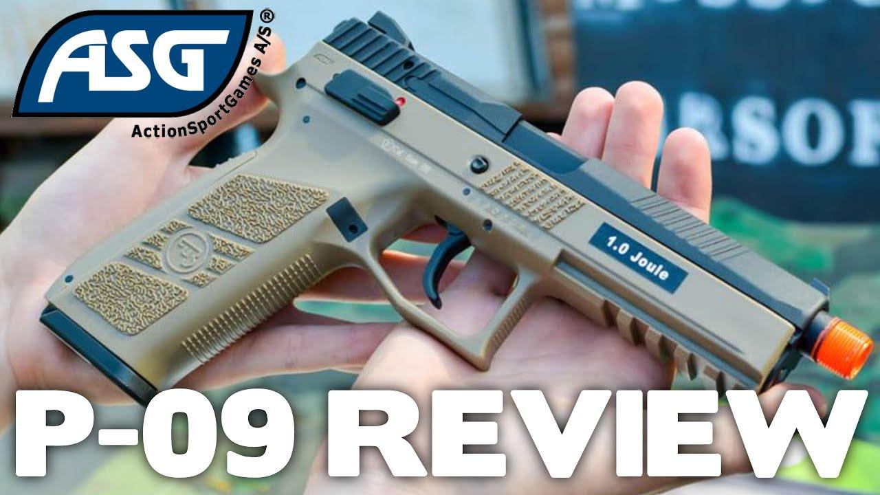 ASG CZ P-09 Déballage et examen du pistolet Airsoft – Révision du pistolet de la station Airsoft