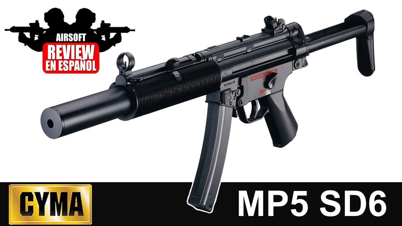 MP5: Cyma Mp5 SD6 Airsoft Review En Espagnol HD (Test Shot)
