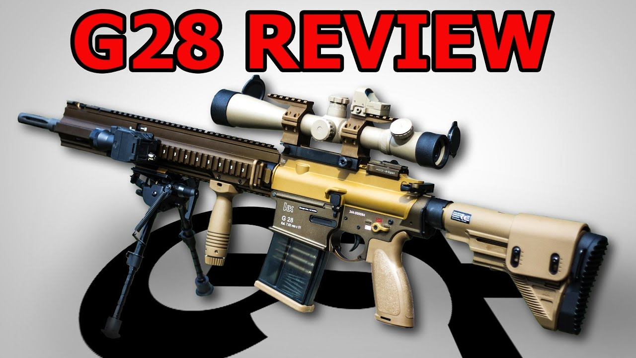 HK G28 Airsoft Review – Test VFC G28 SAEG GSPAirsoft allemand / allemand
