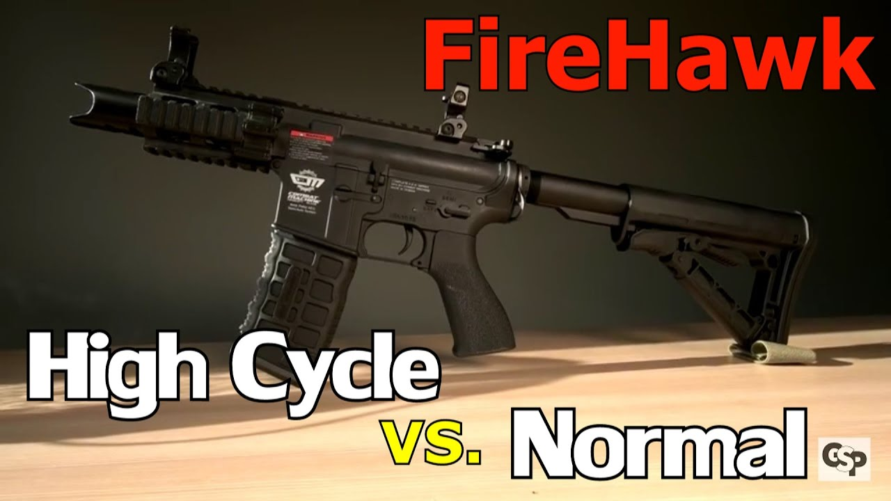 Examen à cycle élevé VS Airsoft normal de G & G FIREHAWK (4k / DE)