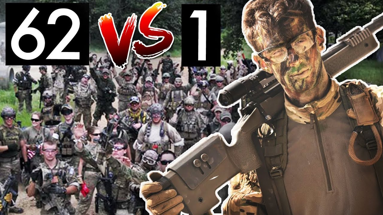 Pro Airsoft Player contre 62 ennemis
