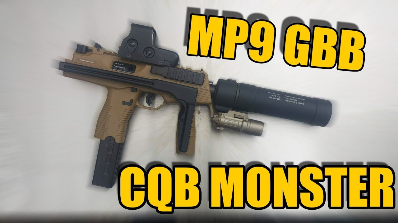 CQB MONSTER KWA MP9 Airsoft GBB Review [GsP/DE]