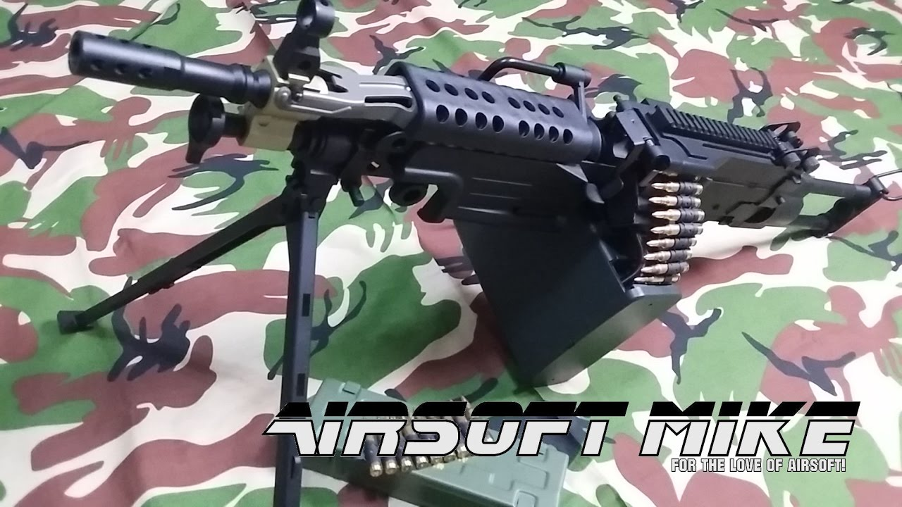 A & K M249 PARA AIRSOFT LMG Unboxing / Review