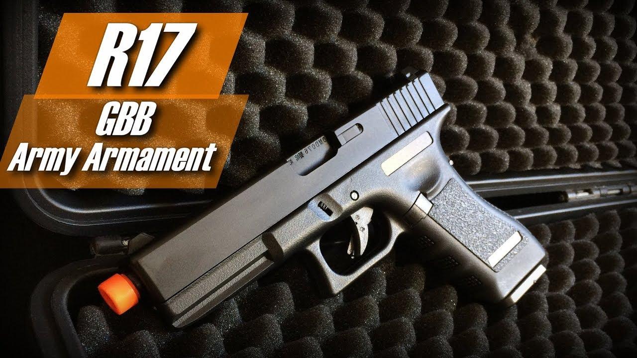 Glock R17 – Armement de l'armée (Pistolet GBB G17) (Airsoft Review BR)