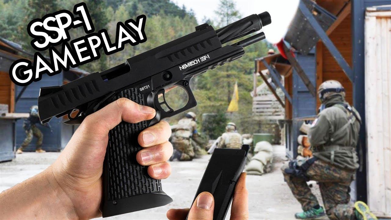 NOVRITSCH SSP1 – Gameplay au pistolet Airsoft