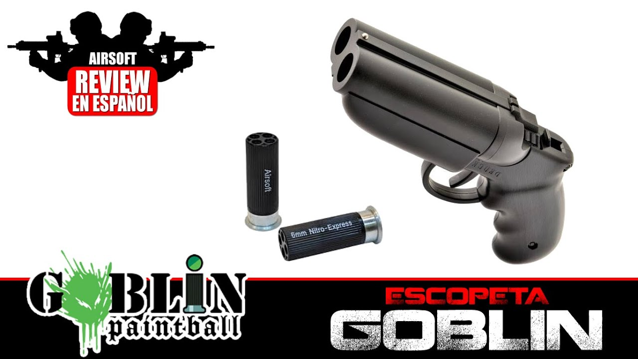 GOBLIN Shotgun Mini Shotgun Airsoft Review en espagnol HD 1080p (Test Shot)