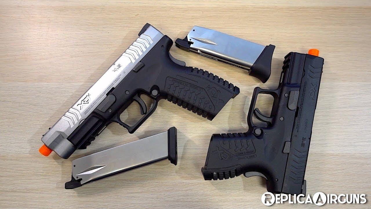 Revêtement de table pistolet Airsoft Springfield Armory XDM GBB Air Review