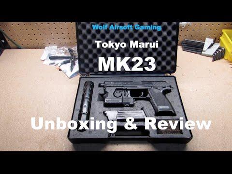 Tokyo Marui Airsoft Pistolet À Gaz MK23 Déballage et examen
