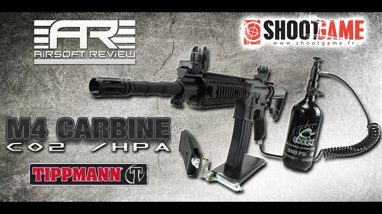 M4 CARBINE CO2 – HPA [ TIPPMANN / SHOOTGAME ] / AIRSOFT REVIEW