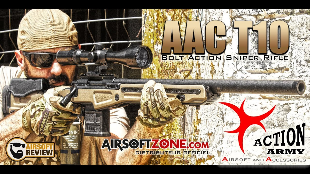 [ FR/ ENG ] AAC T10 ACTION ARMY / AIRSOFTZONE.COM # AIRSOFT REVIEW