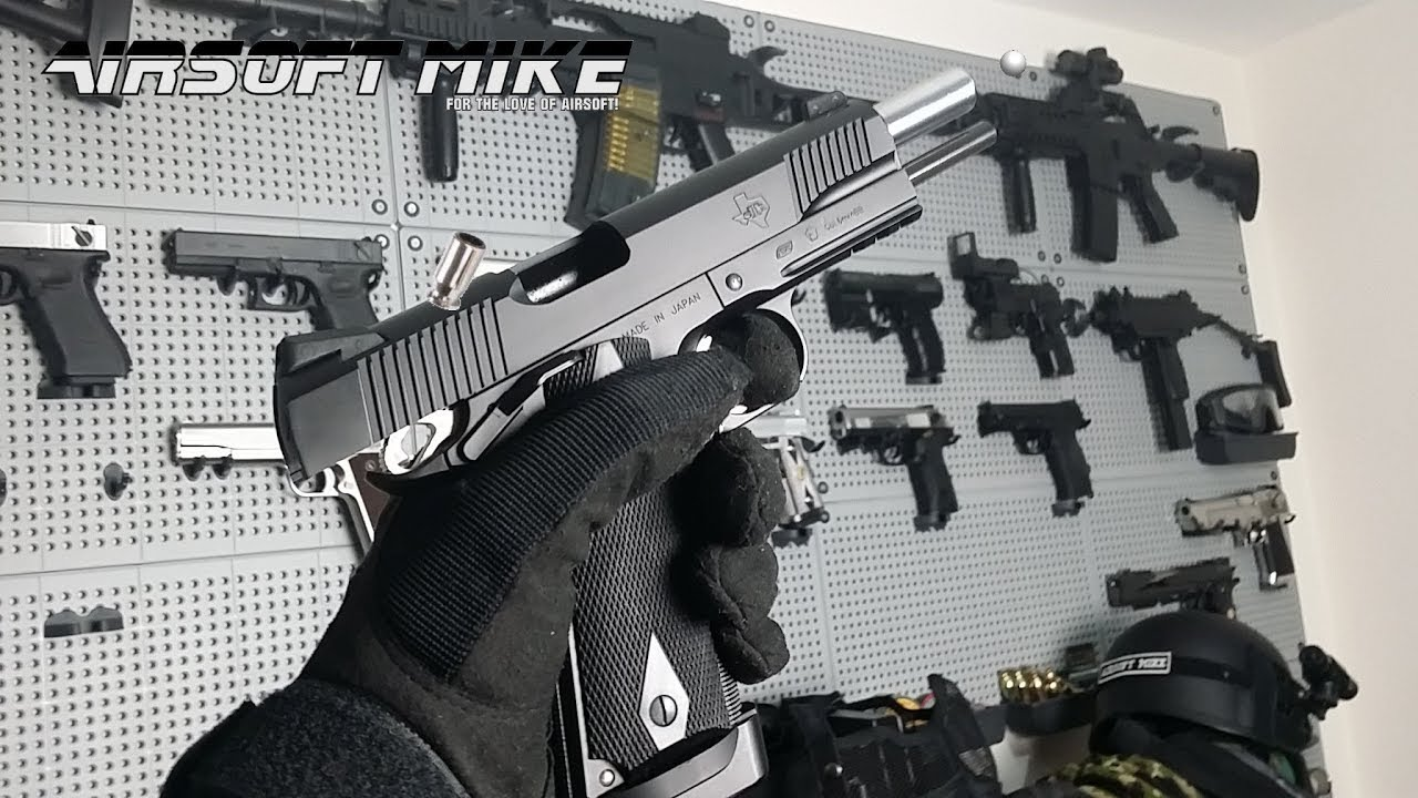 ASG STI 1911-A1 AIRSOFT SHELL EJECTING GBB RSS Commentaire sur Unboxing