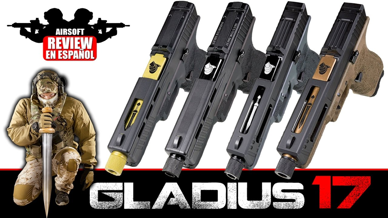 GLADIUS 17 SECUTOR Co2 Airsoft Revue en Espagnol (Test Shot & Chrono)