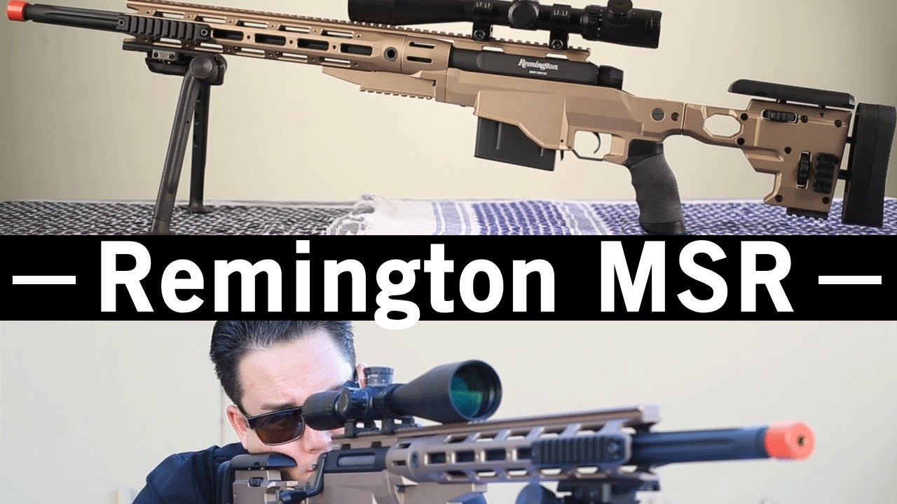 Airsoft GI – OEM de carabine à ressort Remington MSR Spring de ARES Gun Review