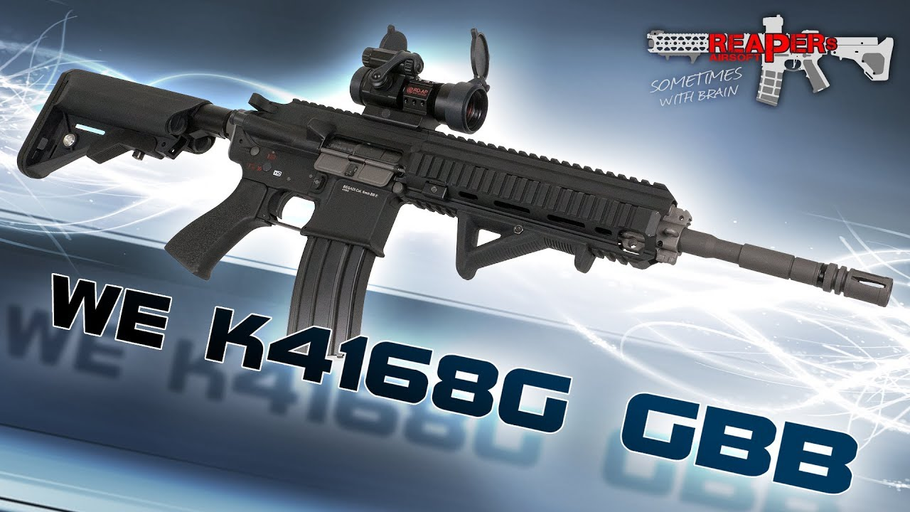 [Review] WE K4168G (888) GBB (retour de gaz) 6mm Airsoft / Airsoft – 4K UHD