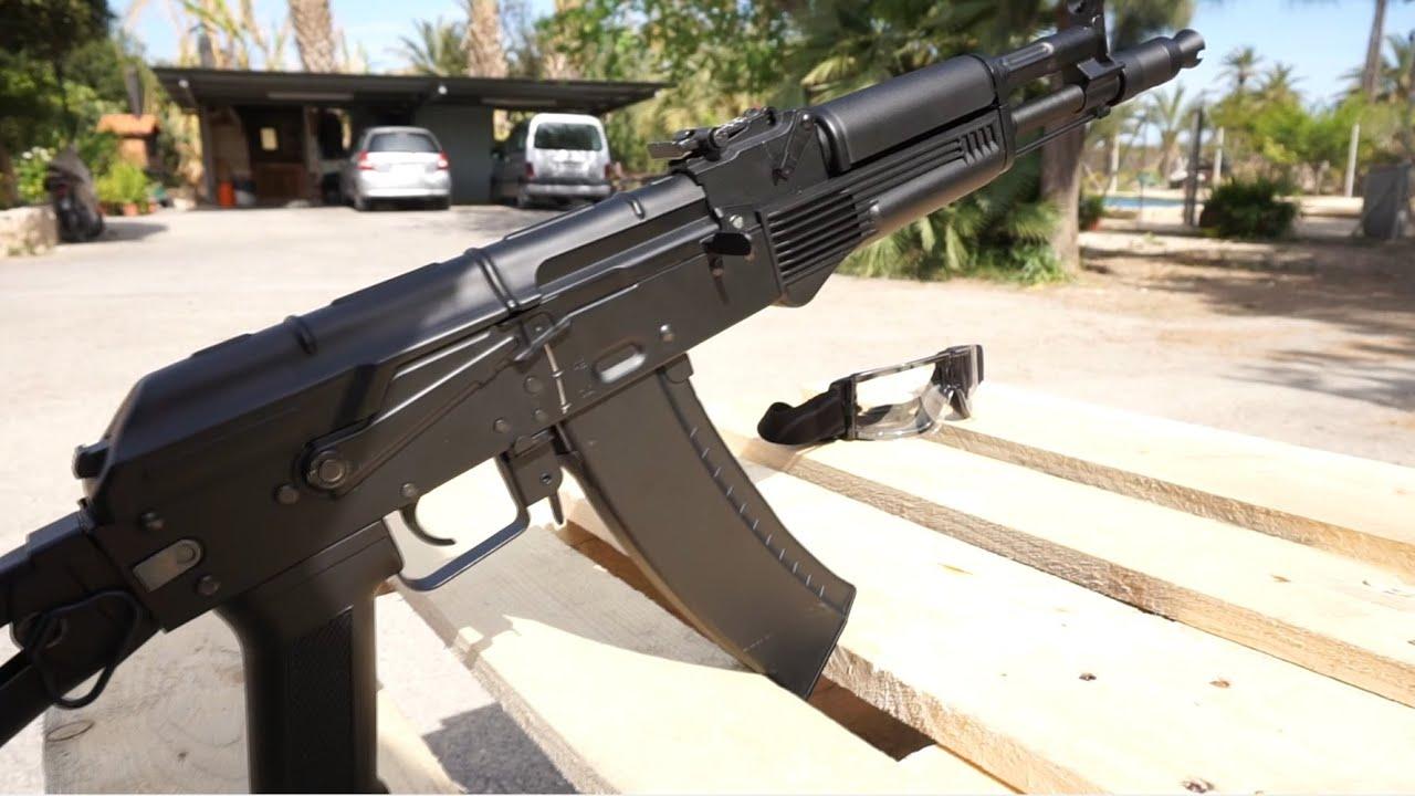 FULL METAL Airsoft Gun Review [AK 104 replica, CM040B ]