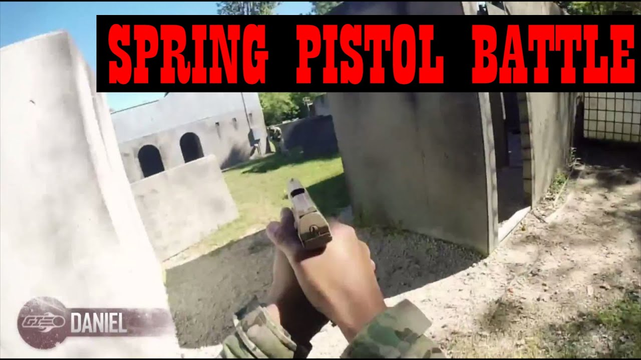 Airsoft Spring Pistol Battle – Sortez et jouez! – Gameplay Airsoft GI