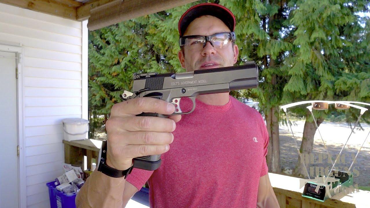 Cybergun Colt 1911 MKIV CO2 Blowback Airsoft Test de test sur le terrain de pistolet