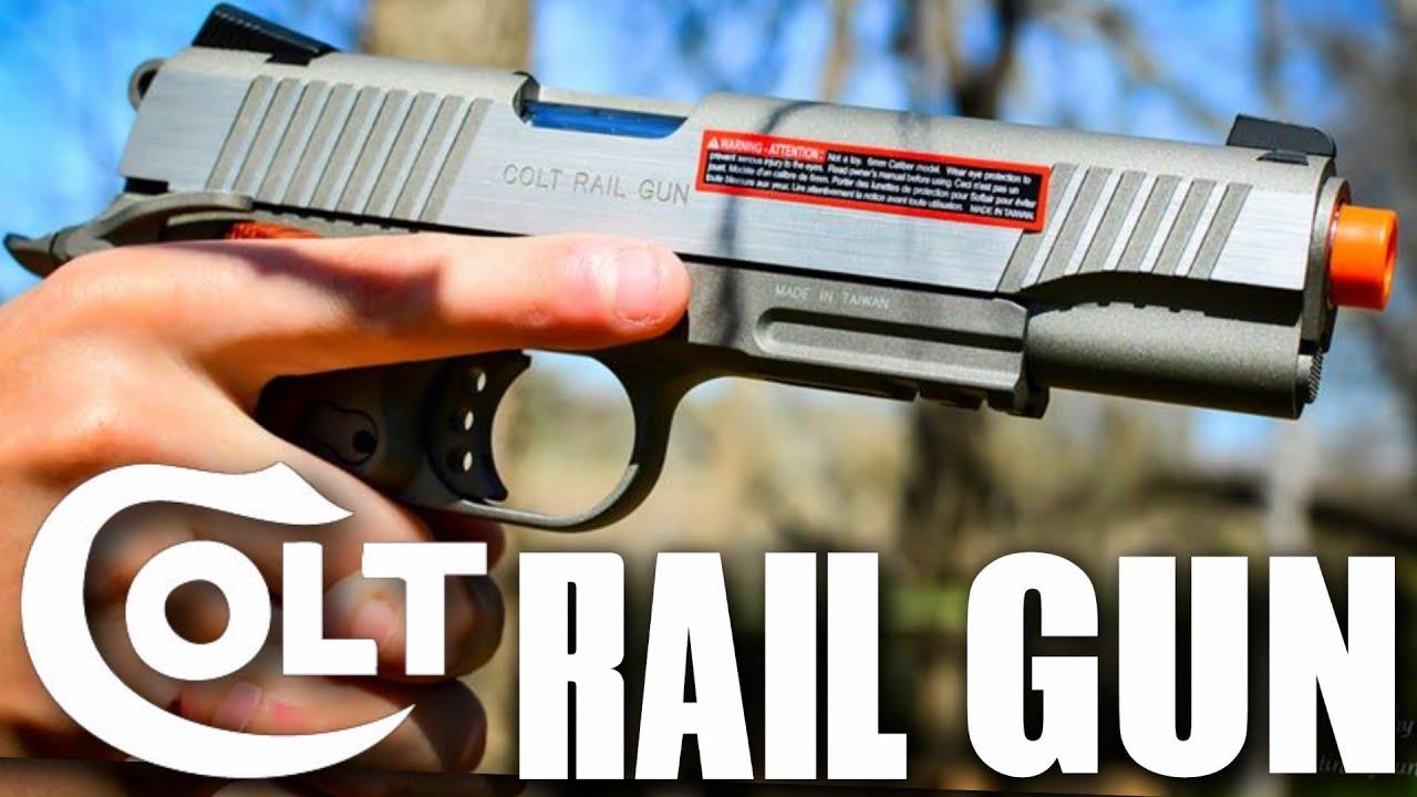 Test du pistolet Airsoft COLT RAIL GUN