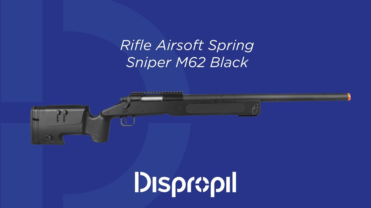 Airsoft Spring Sniper M62 Fusil Review Noir