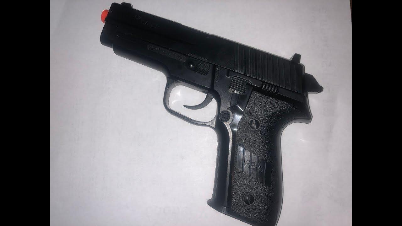 Test du pistolet à ressort Sig Sauer P228 Airsoft