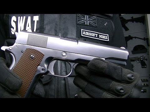 WE 1911 CHROME SILVER Review Unboxing