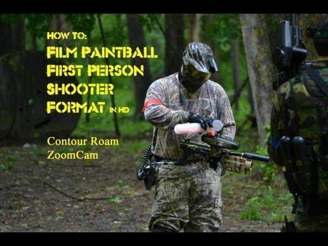 Comment filmer la vidéo de tir à la première personne Paintball Airsoft Contour de chasse ZoomCam
