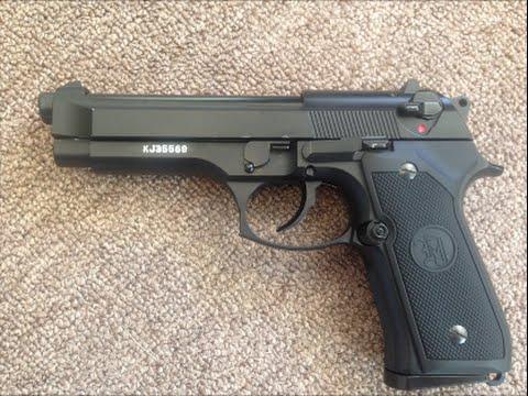 Examen du pistolet Airsoft KJW M9 Beretta Gas Blow Back!