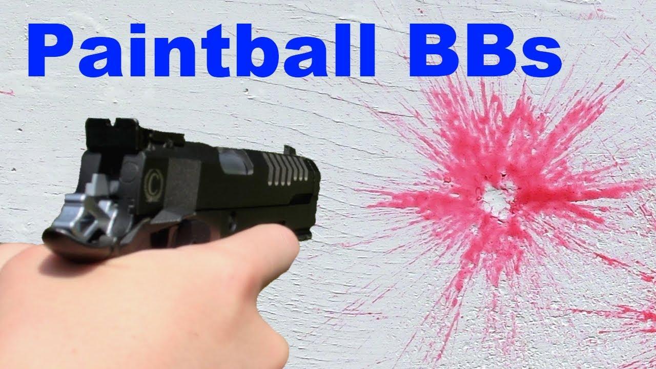 6mm Airsoft Paintball BBs Tir / Revue
