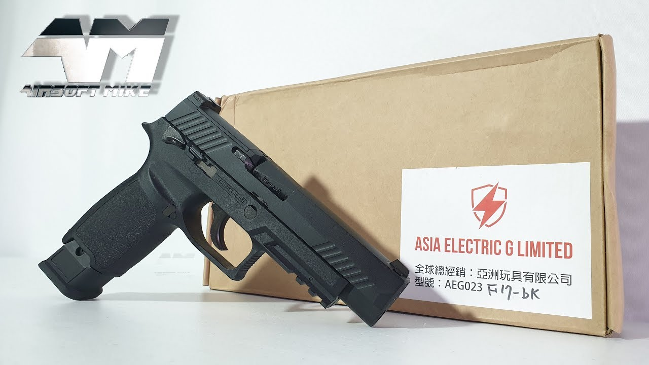 ASIE ELECTRIC G LIMITED F17 / WE SIG SAUER P320 M17 / Airsoft Unboxing