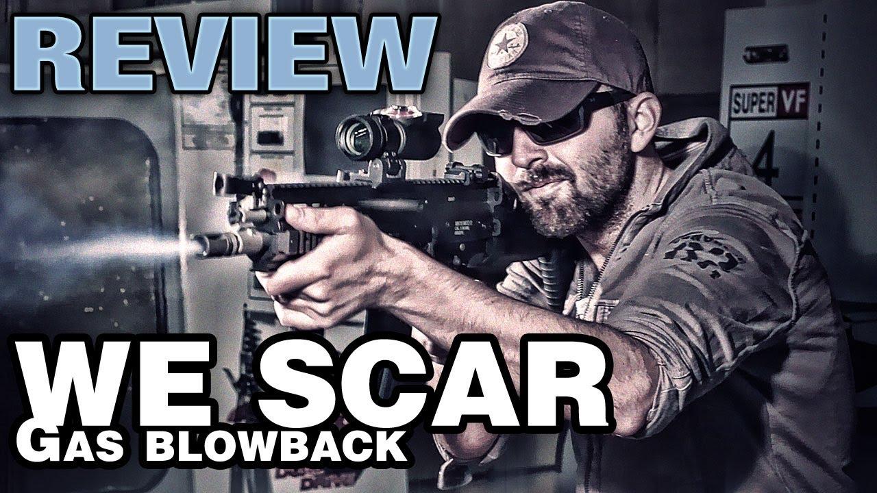 FUSIL BLOWBACK WE GAZ SCAR-L MK16 – Test du pistolet airsoft et test de portée