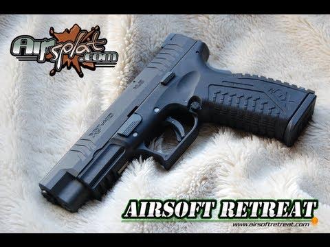WE XDM 4.5 GBB Airsoft Pistol Vue d'ensemble / Démontage / Démonstration de tir