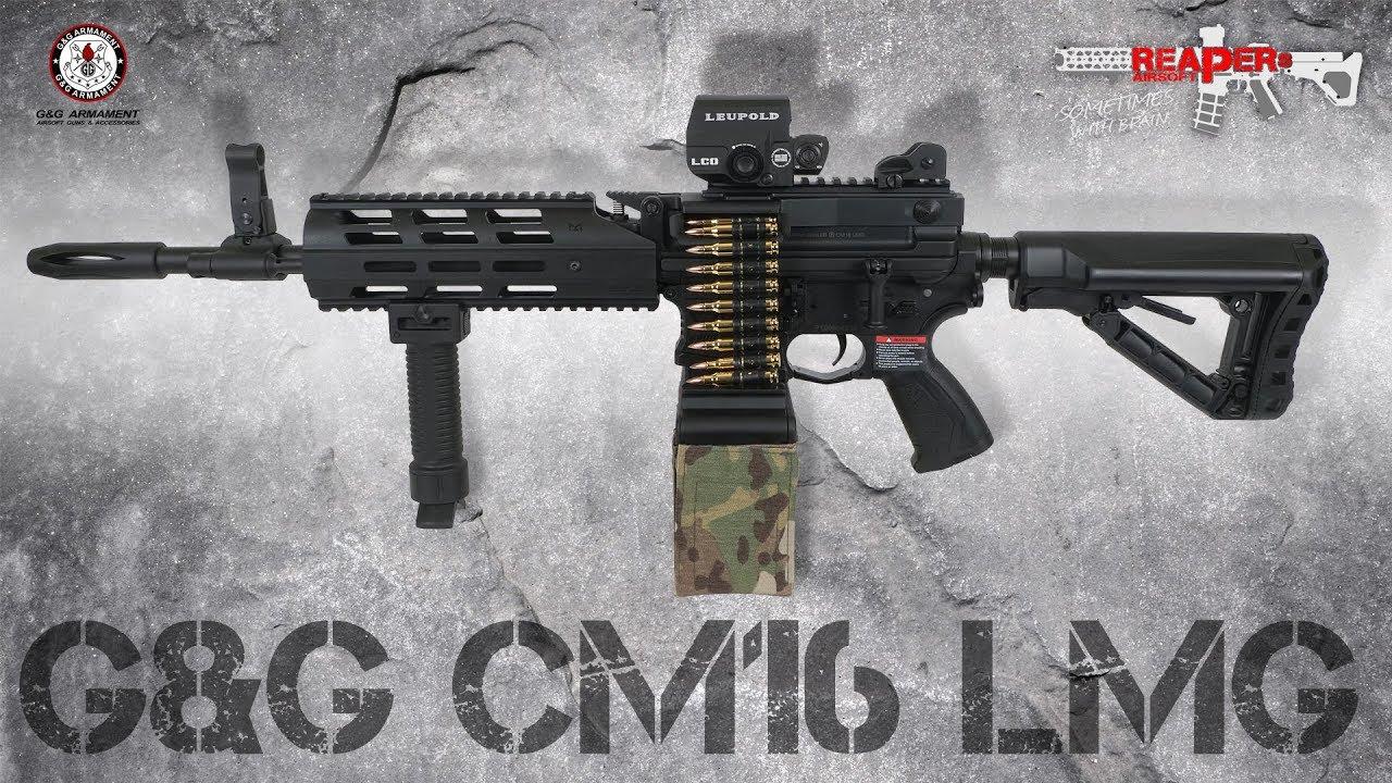 [Review] G & G CM16 LMG – ETU / Mosfet S-AEG 6mm Test Airsoft / Softair