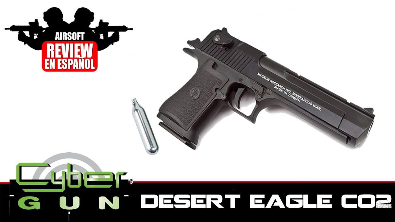 DESERT EAGLE: Test de CO2 semi et complet Auto CyberGun Desert Eagle en espagnol HD (Test Shot)