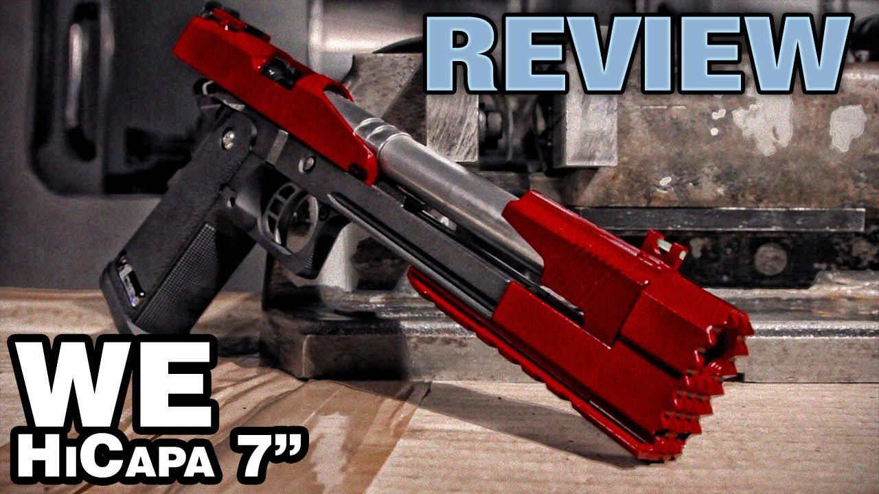 WE Hi Capa Dragon 7 – Pistolet à air comprimé à deux tons Airsoft – EpicAirsoftHD