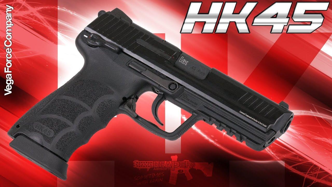 [Review] VFC / Umarex Heckler & Koch HK45 GBB (Rappel de gaz) 6mm Airsoft / Softair 4K UHD