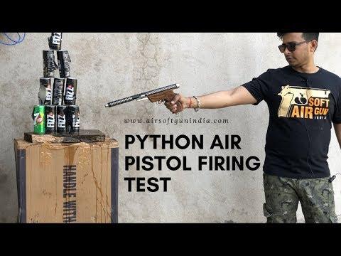 Test de tir au pistolet à air comprimé en python | Airsoft gun Inde