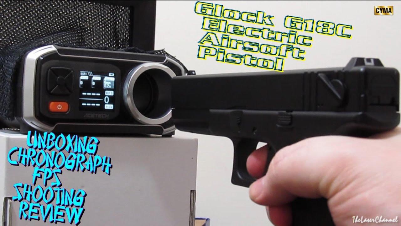 [Airsoft] Cyma Glock Unboxing & Chrono FPS 18C Test de tir