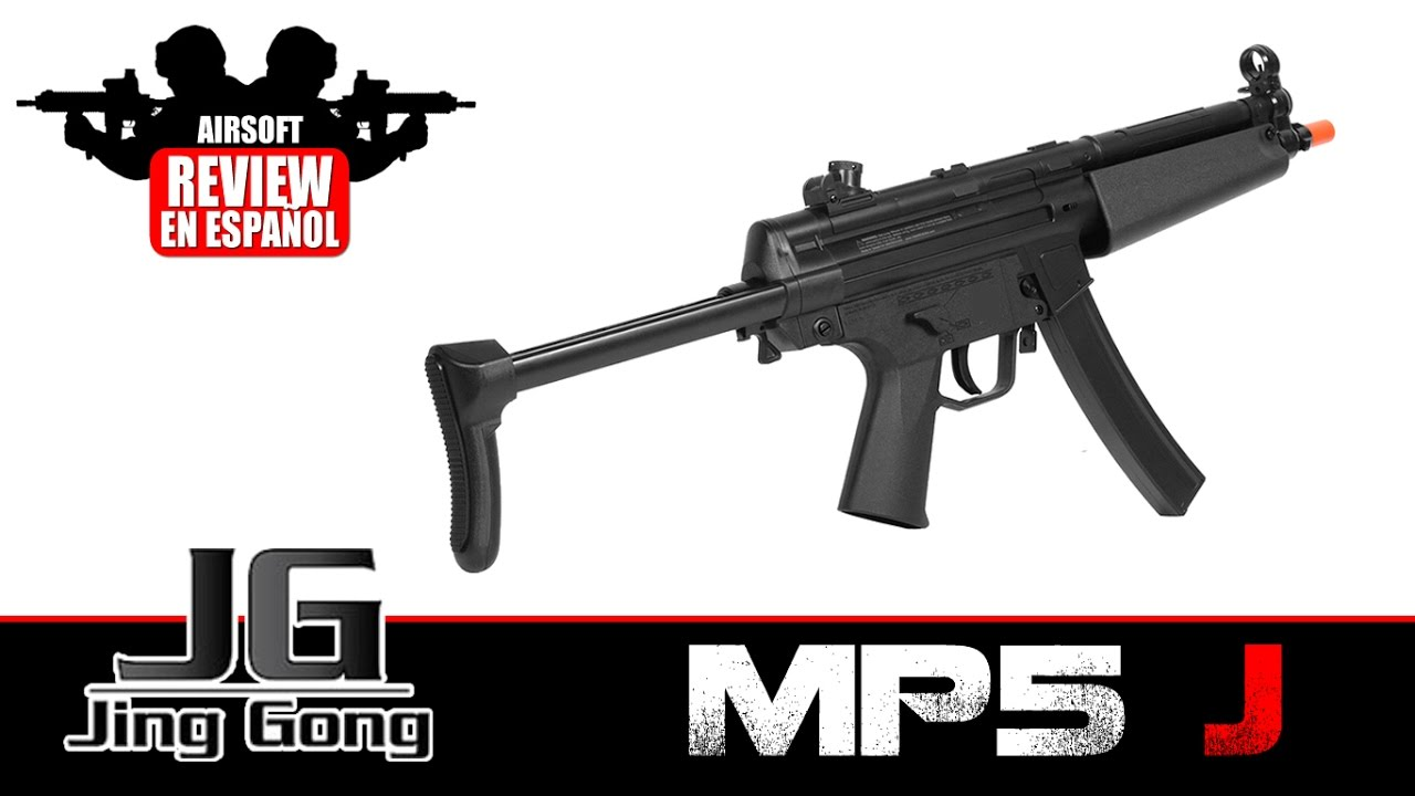 MP5 J JING GONG Revue Airsoft en espagnol (Test Shot & Chrono)