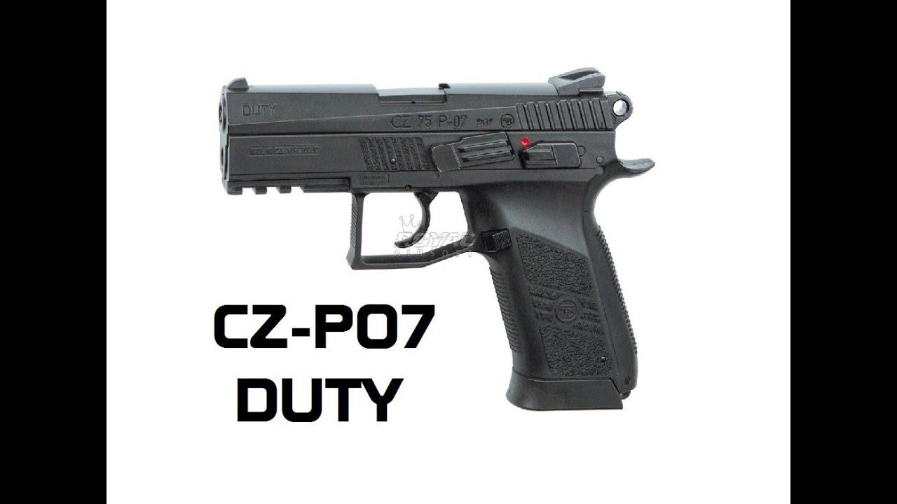 CZ-75 P-07 Devoir | EXAMEN RAPIDE DU PISTOLET AIRSOFT