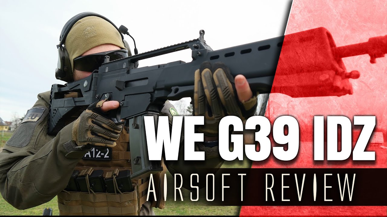 Airsoft WE G39 IDZ Test GsPAirsoft Anglais 4k