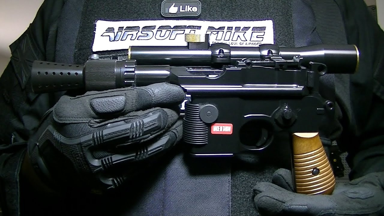ARMORER WORKS M712 STARS STYLE AIRSOFT BLASTER Review de Unboxing / DL-44 / JK ARMY