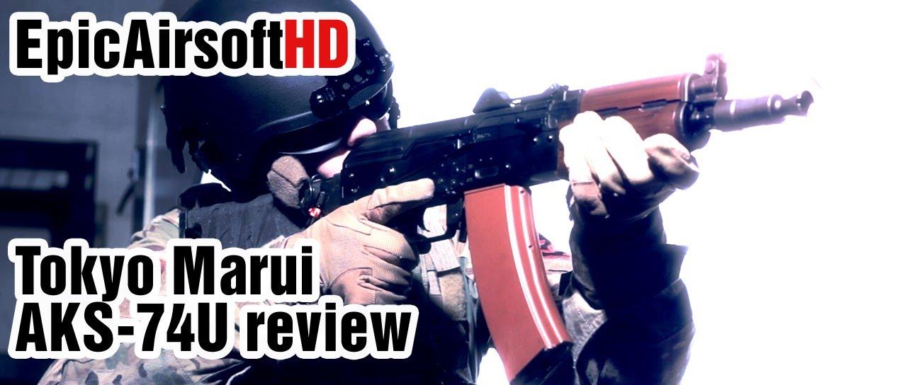 Pistolet airsoft critique TOKYO MARUI AKS-74U Kalachnikov avec système RECOIL – EpicAirsoftHD – Episode 6