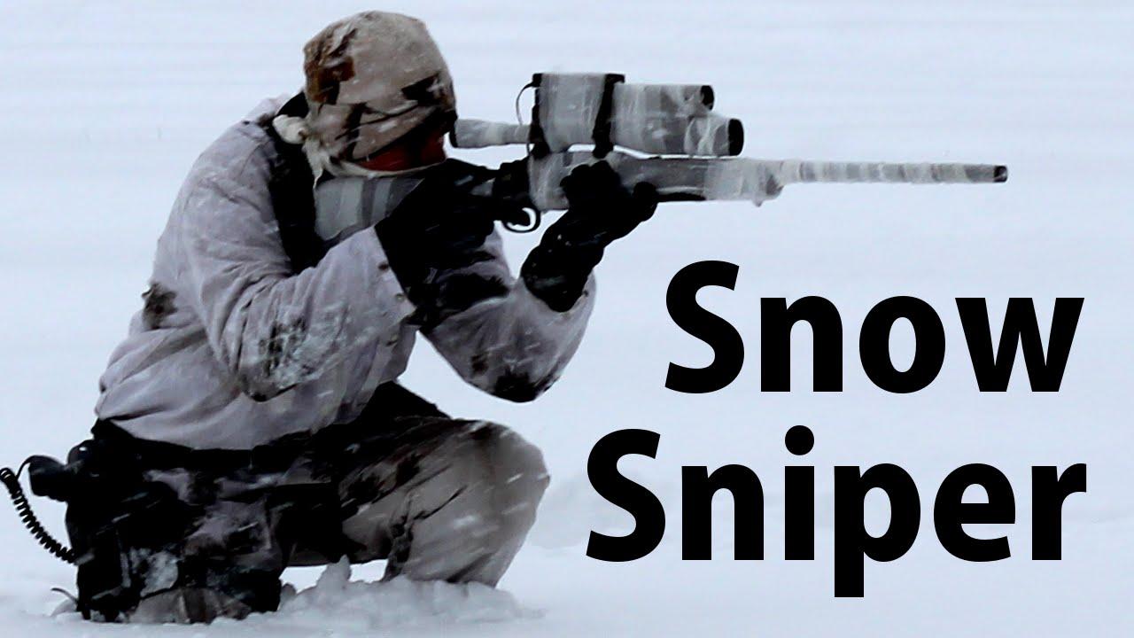 Airsoft Sniper Gameplay – Scope Cam – Champ de bataille de neige