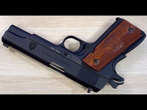 Revêtement de table au pistolet BB Air Venturi Springfield Armory 1911 CO2 CO2 Revue