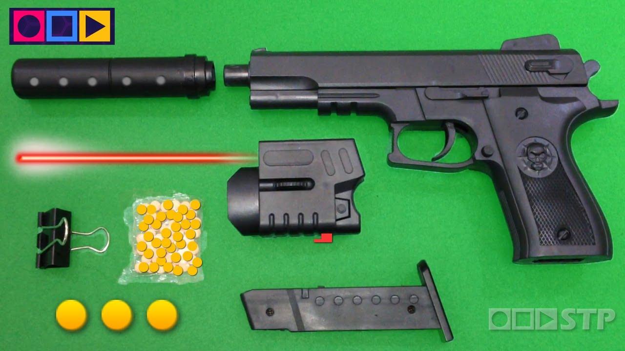 Jouet pistolet réaliste Airsoft – Pistolet à balles et balles – Jouets à ressort à pellets